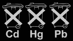 Symbol zur Batterieentsorgung